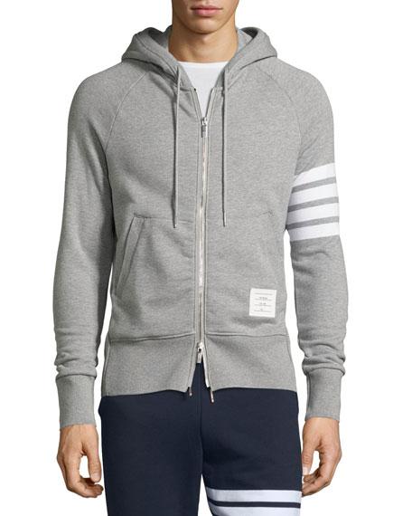 Four-Stripe Hoodie Sweatshirt