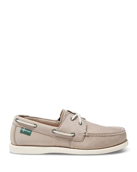 Image 2 of 2: Kittery 1955 Leather Boat Shoe, Gray