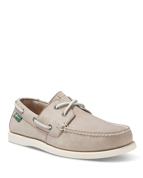Image 1 of 2: Kittery 1955 Leather Boat Shoe, Gray