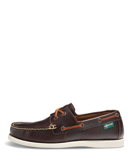 Image 2 of 2: Kittery 1955 Leather Boat Shoe, Dark Brown