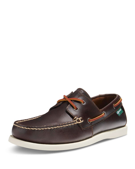 Image 1 of 2: Kittery 1955 Leather Boat Shoe, Dark Brown
