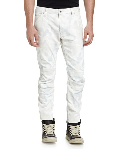 5622 3D Relaxed Slim Jeans, Scatter White Camo