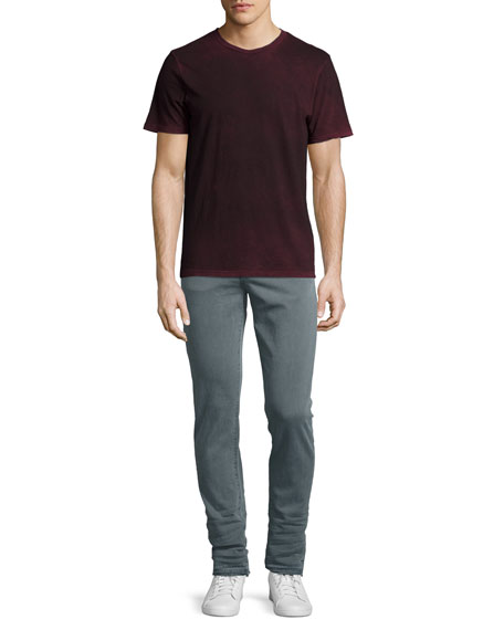 "Mick 31"" Skinny Jeans with Released Hem, Gray"