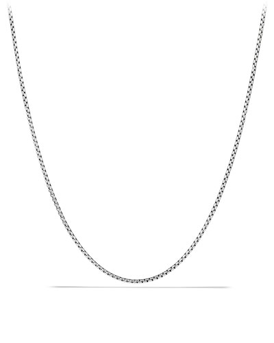 Men's Small Sterling Silver Box Chain Necklace  24