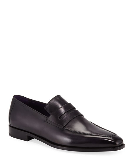 Berluti Men's Andy Calf Leather Penny Loafers