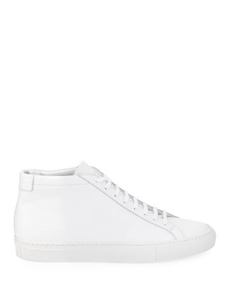 Men's Original Achilles Men's Leather Mid-Top Sneakers, White