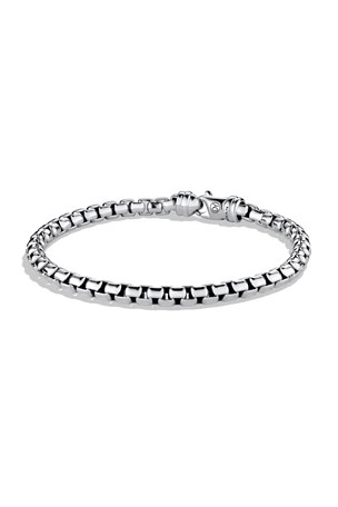 David Yurman Men's 5mm Sterling Silver Large Box Chain Bracelet