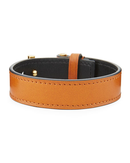 TOM FORD Men's Leather T-Buckle Bracelet