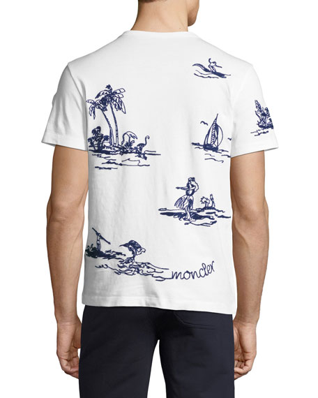 Embroidered Hawaiian T-Shirt, White