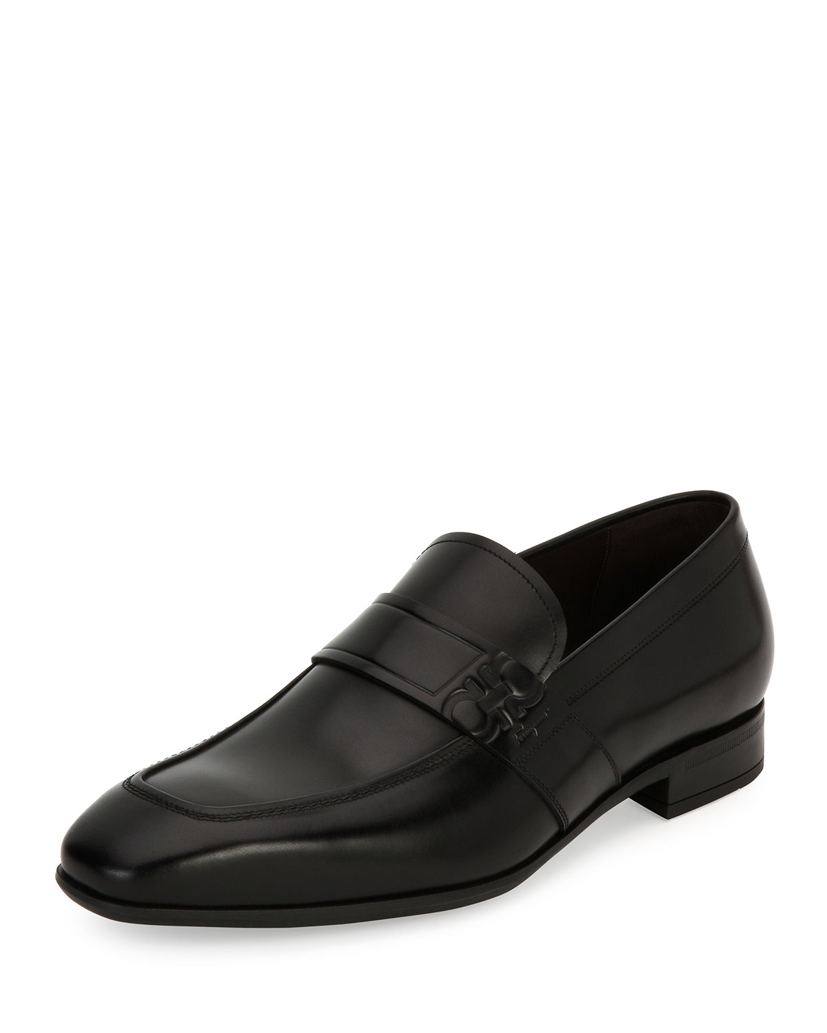 146ea7dbbbe Salvatore FerragamoMen s Gancini-Embossed Leather Loafer