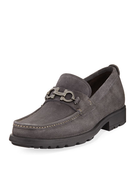 Salvatore Ferragamo David Suede Lug-Sole Loafer