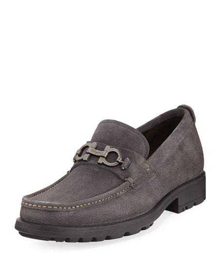 Men's Suede Lug-Sole Loafer