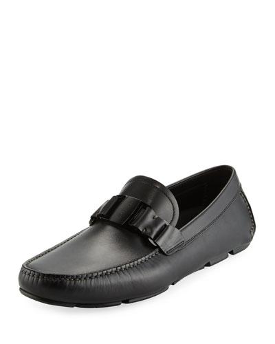 Men's Leather Driver, Black