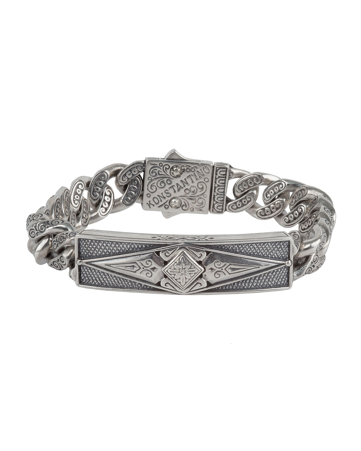 gallery link metallic lyst normal silver bracelet product in konstantino jewelry sterling