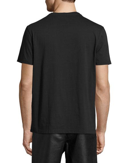 3D Rubber Skull Print Crewneck T-Shirt
