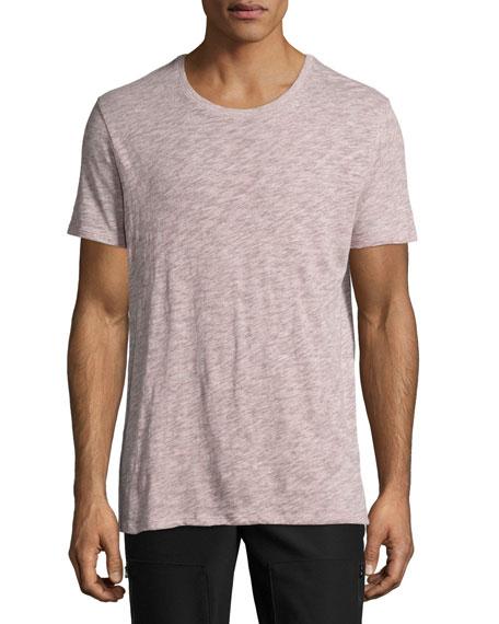 Short-Sleeve Crewneck Slub T-Shirt
