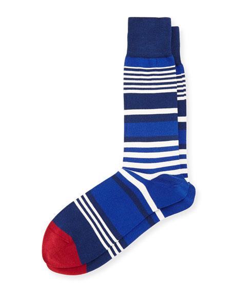 Ecru Striped Socks