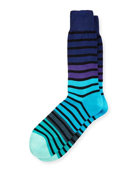 Fialor Striped Colorblock Socks