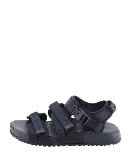 Versace Men's Greek Key Multi-Strap Sandal, Navy