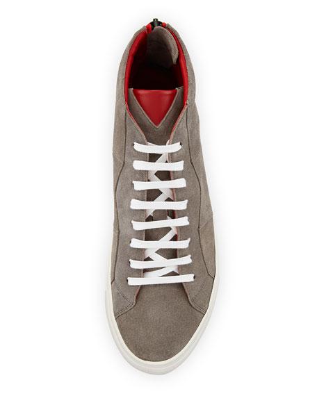 Vidar Men's Puzzle-Seam Suede High-Top Sneakers