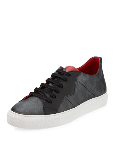 Vali Men's Canvas Low-Top Sneaker, Noir