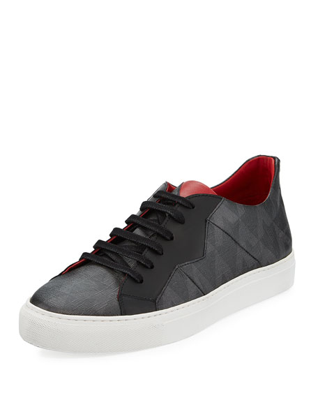 Anonyme-Paris Vali Men's Canvas Low-Top Sneaker, Noir
