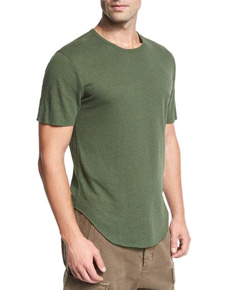 Raw-Hem Crewneck T-Shirt