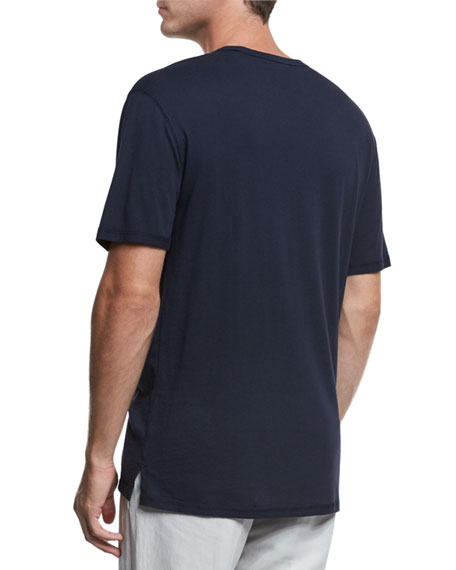 Reverse-Hem Crewneck T-Shirt