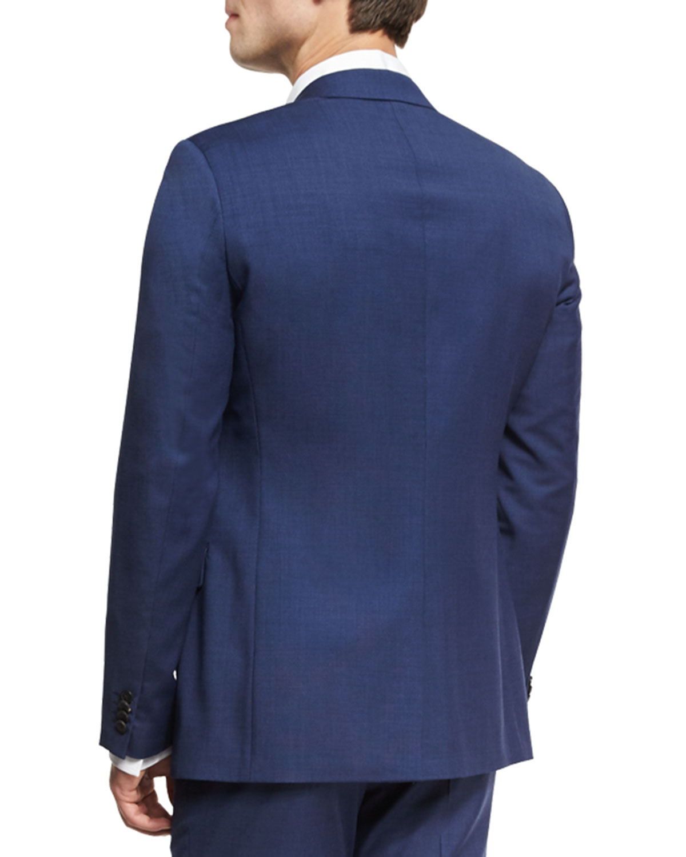 1f91188b160 Theory Wellar Camley Slim Wool Suit Jacket, Blue   Neiman Marcus