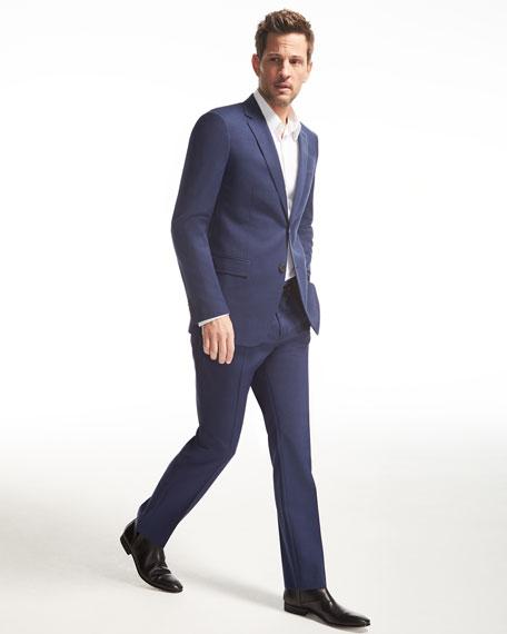 Wellar Camley Slim Wool Suit Jacket, Blue