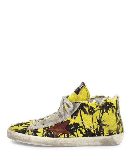 Image 3 of 5: Men's Francy Men's Palm-Print High-Top Sneaker