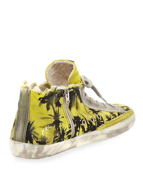 Men's Francy Men's Palm-Print High-Top Sneaker