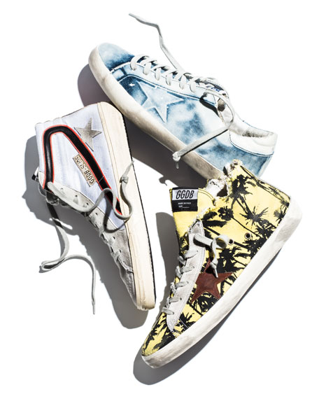 Image 2 of 5: Men's Francy Men's Palm-Print High-Top Sneaker