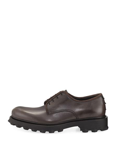 Lug-Sole Leather Loafer