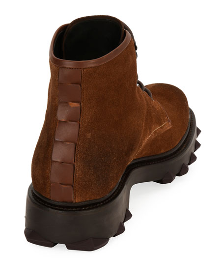 Suede Work Boot, Brown