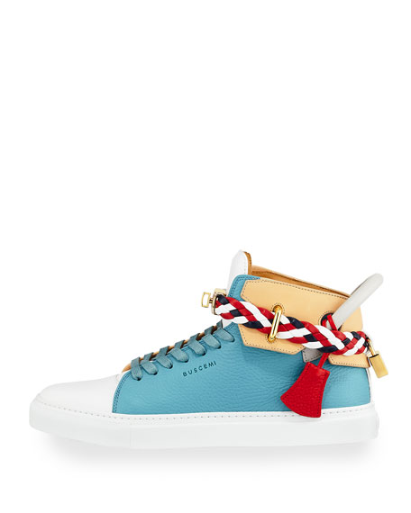 Men's 100mm Mix High-Top Sneakers, Oxygen