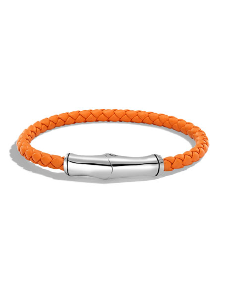 John Hardy Men's 5mm Bamboo Woven Leather Bracelet,