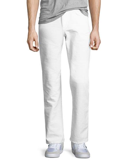 Men's Brixton Kinetic Denim Slim-Straight Jeans, Ronan (White)