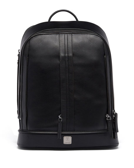 x CR Collection Men's Gelato Leather Backpack, Black