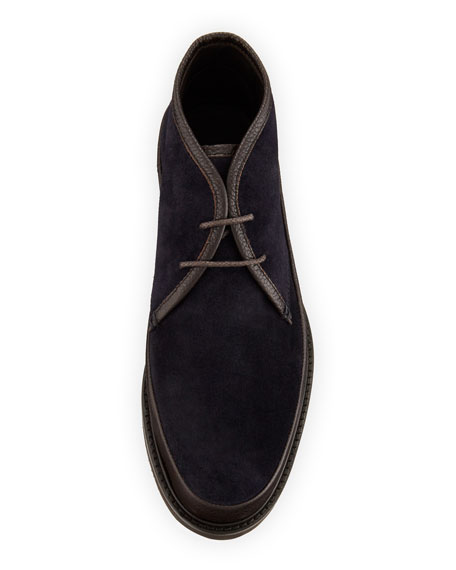 Trivero Suede & Leather Chukka Boot