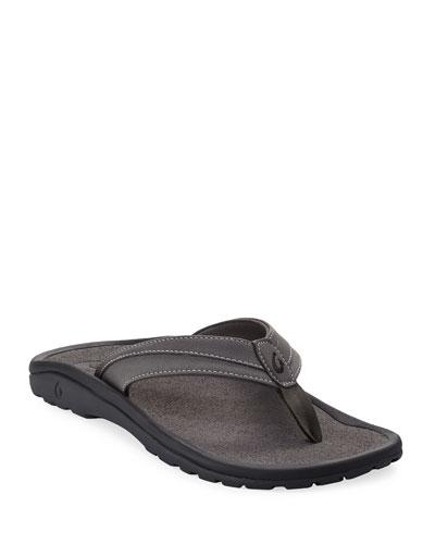 Men's ʻOhana Koa Thong Sandals, Gray