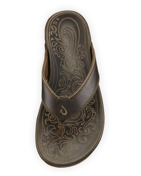 Waimea Leather Thong Sandals