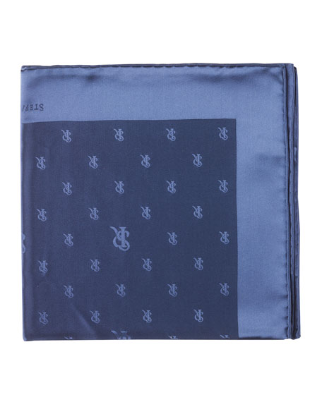 Silk Logo Pocket Square