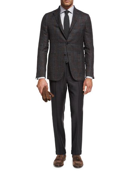Ermenegildo Zegna Trofeo® Wool Flat-Front Trousers, Gray