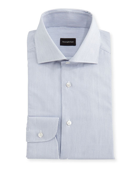 Ermenegildo Zegna Micro-Stripe Cotton Dress Shirt