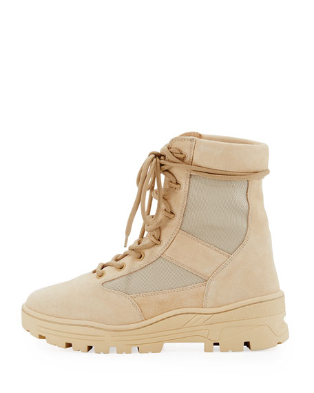 Men's Suede & Mesh Combat Boot