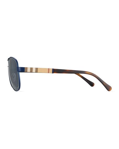 Mirrored Check Aviator Sunglasses
