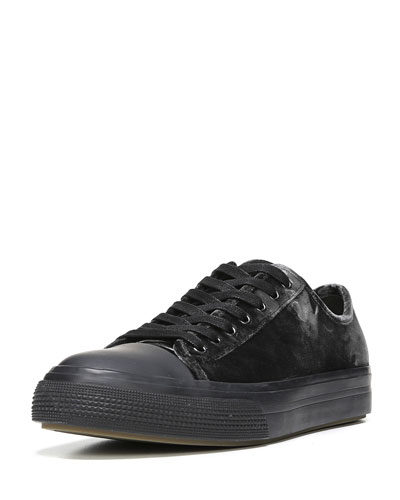 Tiller Low-Top Velvet Sneaker