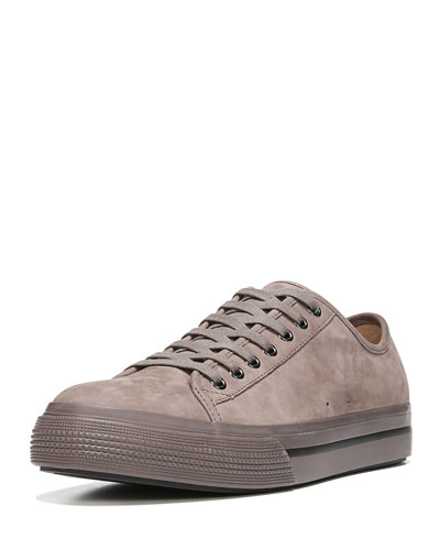 Toby Men's Nubuck Leather Low-Top Sneaker