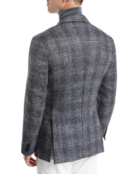 Ermenegildo Zegna Donegal Plaid Silk-Wool-Cashmere Sport Coat